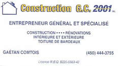 Construction G.C. 2001 inc.